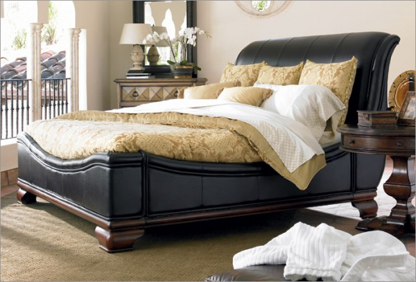 leather bed e1288975647661 How to Buy Leather Furniture for your Home