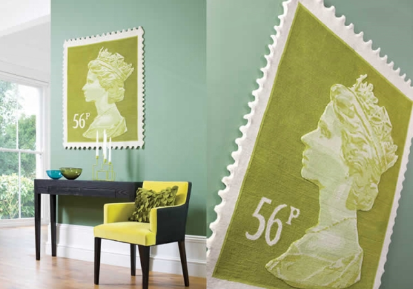 rug stamps3 Queen Elizabeth II Stamp Rugs, a Royal Indoor Addition