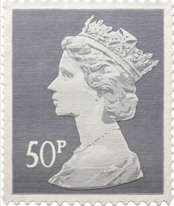 rug stamps4 Queen Elizabeth II Stamp Rugs, a Royal Indoor Addition