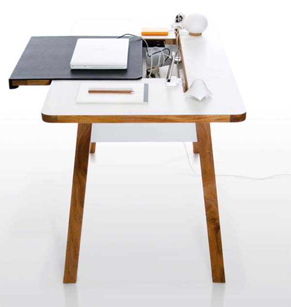 Oak Trendy White Desk Concepts 21. The Level Desk