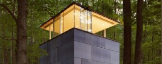 Zen-Like Cube Shaped Study Crib in the Catskill Mountains