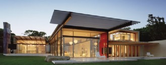 Oceanfront Home Invaded by Color: Montauk Residence