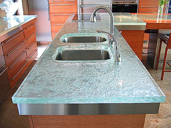 kitchen counter glass e1291843810823 How to Keep your Countertops Organized and Clutter Free