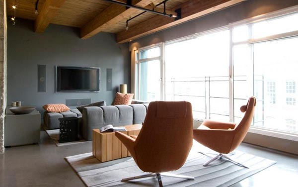 mainland street loft kelly reynolds 16 Contemporary Bachelor Pad with a Defining Mixture of Styles