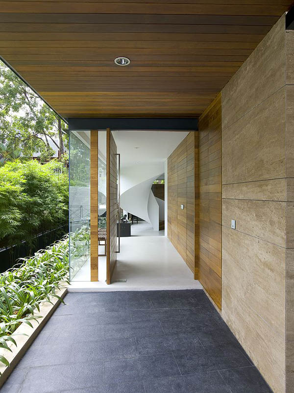 45 faber park residence 19 Gorgeous Sculptural Geometric Family Home in Singapore