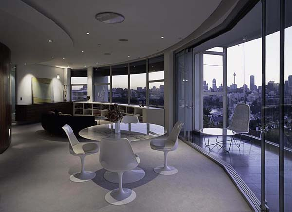 Darling Point apartment 10 Contemporary Round Apartment with Astounding Skyline Views of Sydney