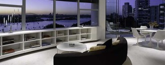 Contemporary Round Apartment with Astounding Skyline Views of Sydney
