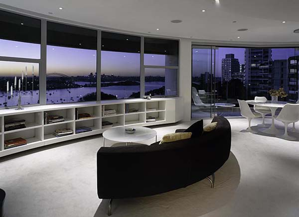 Darling Point apartment 11 Contemporary Round Apartment with Astounding Skyline Views of Sydney