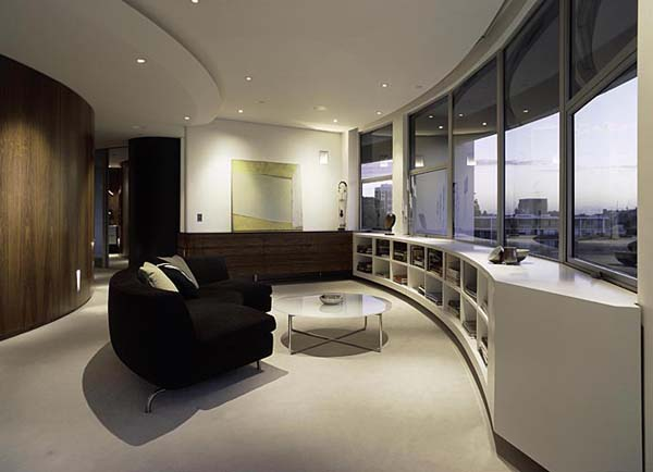 Darling Point apartment 3 Contemporary Round Apartment with Astounding Skyline Views of Sydney