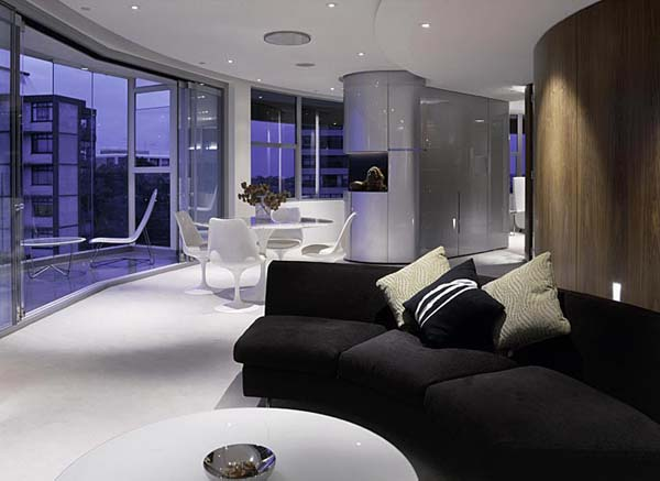 Darling Point apartment 6 Contemporary Round Apartment with Astounding Skyline Views of Sydney