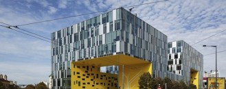 Imposing Aztec Serpent Office Building in France