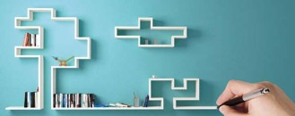 Graphic Shelving System from LagoLinea for Modern Homes