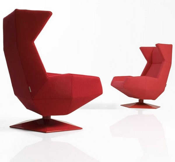 Oru Chair Freshome04 Original and Modern Armchair Inspired by the Art of Origami