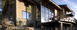 "Beautiful Mountain Home Made ""Modern"" with Cable Railings"