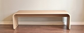 Elegant Minimalist Wood Bench by Dario Antonioni