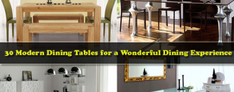 30 Modern Dining Tables for a Wonderful Dining Experience