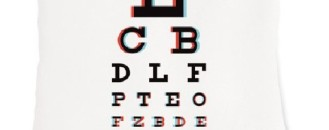 Check Your Sight in 3D: The 3D Eye Chart Pillow by Heather Lins