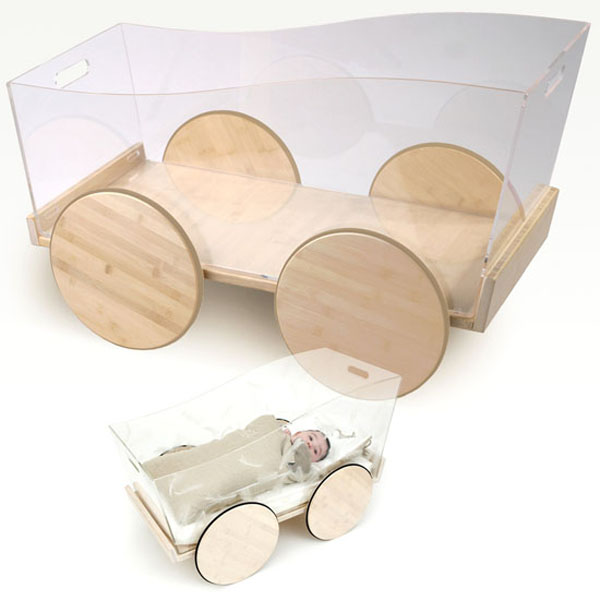 Basinet wheels Beautiful and Contemporary Green Children Furniture Collection