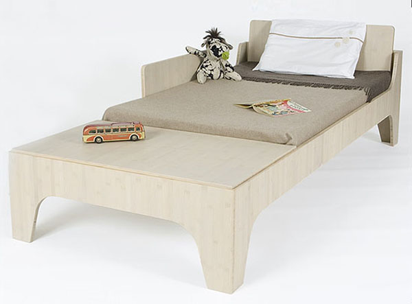Bed Beautiful and Contemporary Green Children Furniture Collection