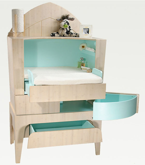 Cabinet Beautiful and Contemporary Green Children Furniture Collection