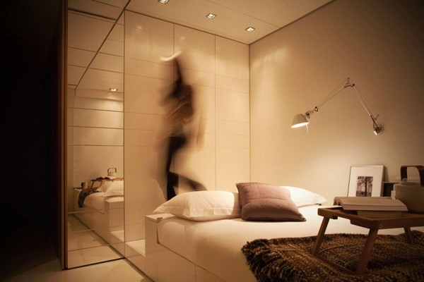 Closet House 08 750x500 Intelligent and Hi Tech Small Apartment With Mind blowing Features [Video]
