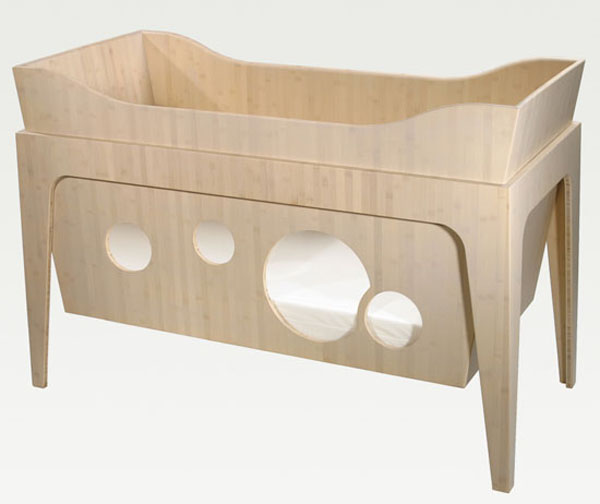 Crib Beautiful and Contemporary Green Children Furniture Collection
