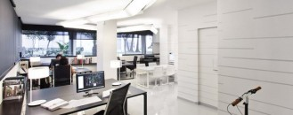 Fresh and Modern Office Studio by Dom Arquitectura