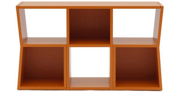 Trick Bookcase 1 Unusual Shelving System Turns into a Table: Trick Bookcase