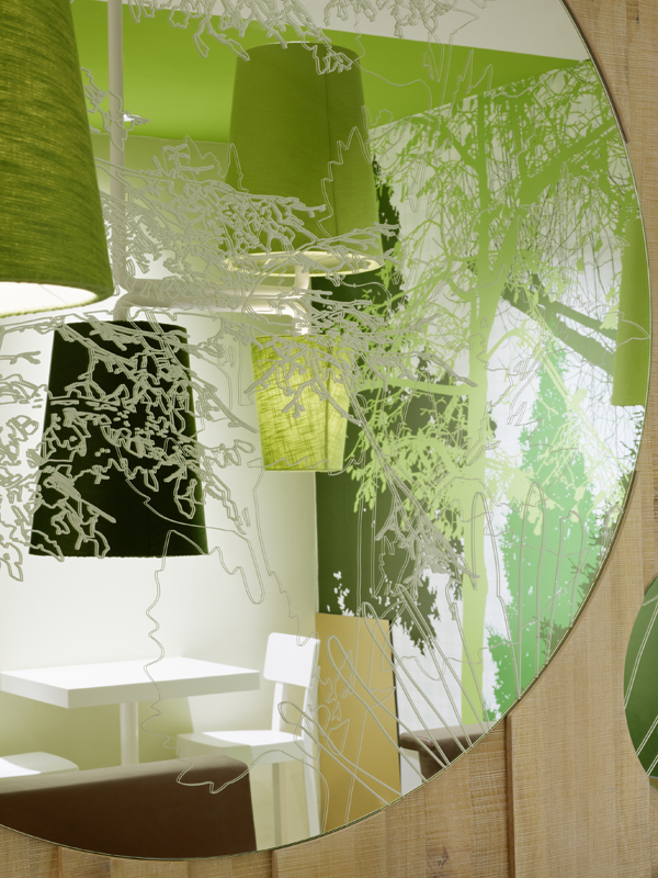 Wienerwald Restaurant Design 12 Fresh Restaurant Design Displaying Bold Natural Colours and Fun Forest Graphics