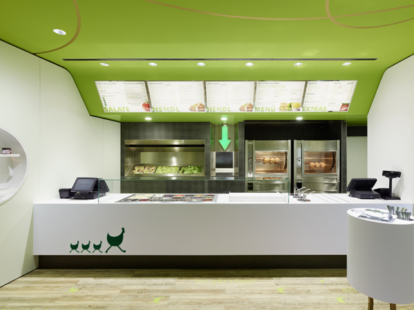 Wienerwald Restaurant Design 2 Fresh Restaurant Design Displaying Bold Natural Colours and Fun Forest Graphics