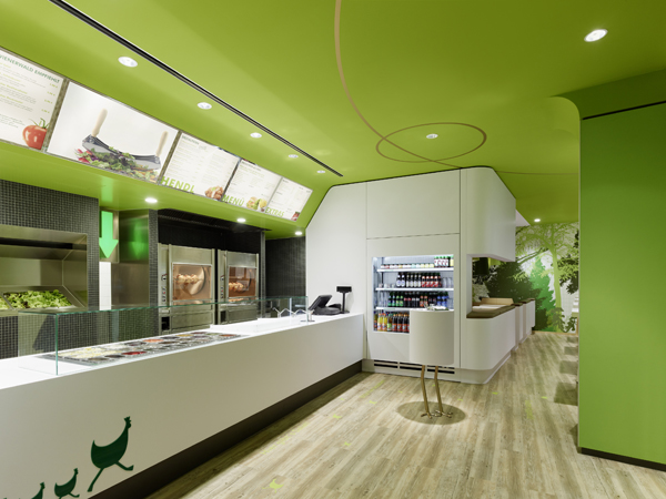 Wienerwald Restaurant Design 3 Fresh Restaurant Design Displaying Bold Natural Colours and Fun Forest Graphics