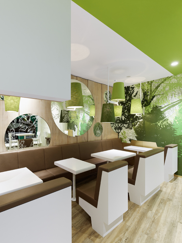 Wienerwald Restaurant Design 7 Fresh Restaurant Design Displaying Bold Natural Colours and Fun Forest Graphics