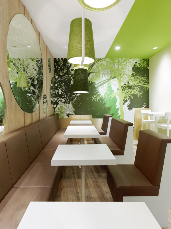 Wienerwald Restaurant Design 9 Fresh Restaurant Design Displaying Bold Natural Colours and Fun Forest Graphics