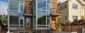 Charming Contemporary Twin Buildings: Alki Townhomes in Seattle