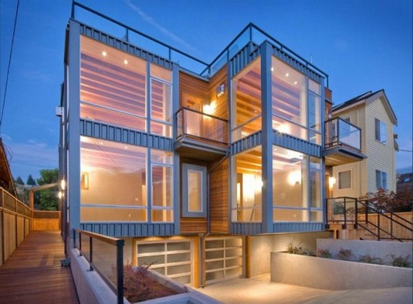 two townhouses half block from the beach 3 554x408 Charming Contemporary Twin Buildings: Alki Townhomes in Seattle