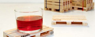 Industrial Fun Coasters for Your Glass: The Pallette Coasters