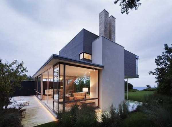 amazing modern villa Freshome 01 Impecable Modern Home Design: Art and Surf Residence in Montauk