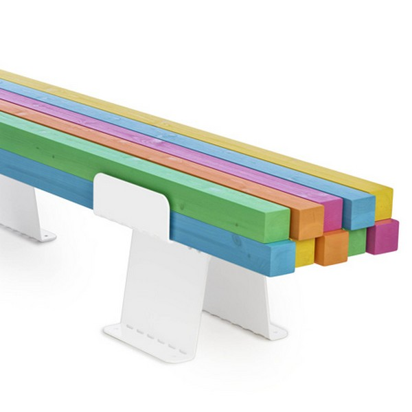 colorful bench Freshome 02 Original and Colorful Approach to the Classic Bench: Pylon