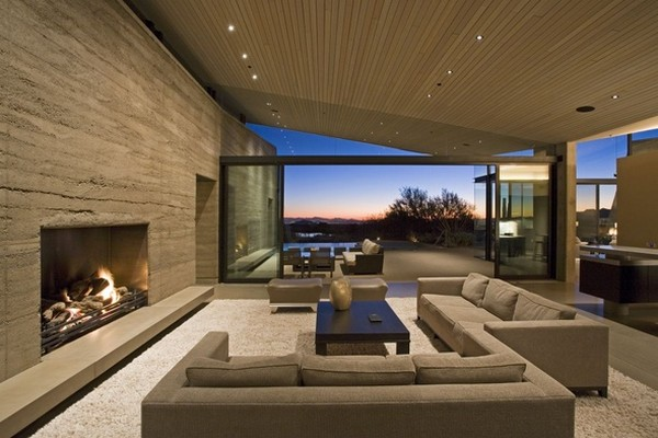 modern villa Freshome 14 Remote, Modern and Impressive: Desert Wing Residence in Arizona