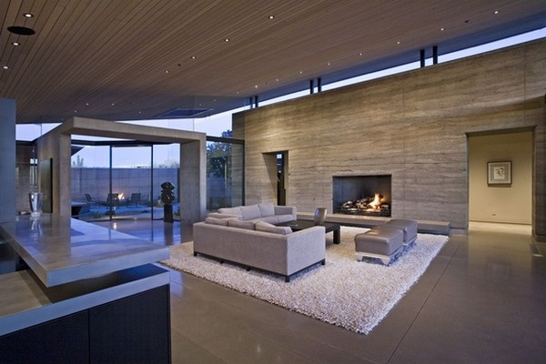 modern villa Freshome 15 Remote, Modern and Impressive: Desert Wing Residence in Arizona