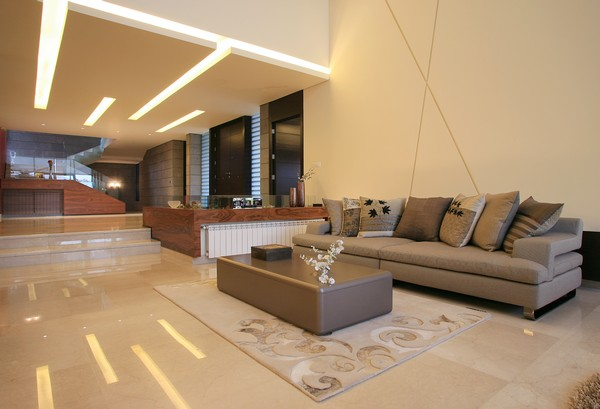 villa Freshome 15 Contemporary Residence in Lebanon Surrounded by Fountains and Palm Trees