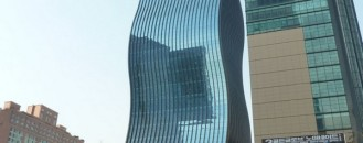 Office Tower With Undulating Glass Façade in Seoul