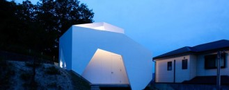 Asymmetrical Shaped Home with a Well Adjusted Architecture in Japan