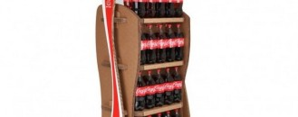 """Coca Cola Promotes Sustainability with """"Give It Back"""" Cardboard Racks"""