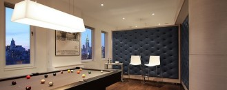 Inspiring Looking Penthouse with Billiard Living Room in New York