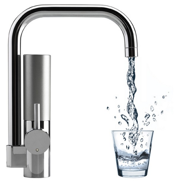 innovative water filtering kitchen faucet mywell freshome com rh freshome com water filter under sink faucet water filtration kitchen faucet