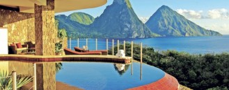 Each Room with Its Infinity Pool: Jade Mountain Resort in St. Lucia