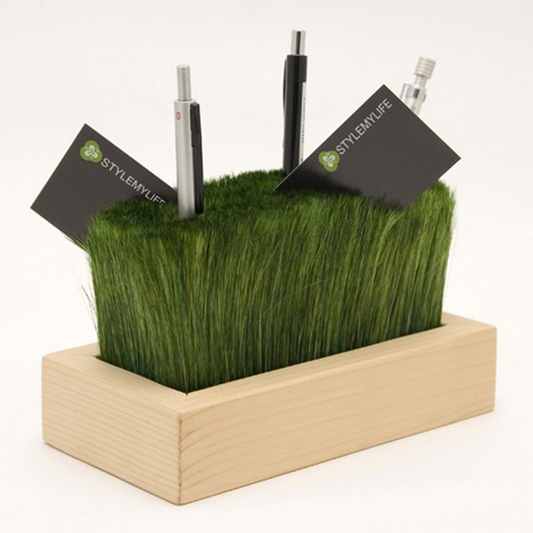 This Playful Desk Organizer Looks Like Freshly Cut Grass
