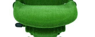 Green AstroTurf-Covered Aeron Chair by Herman Miller and Makoto Azuma