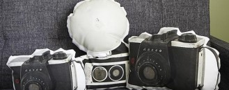 Fun and Functional Printed Canvas Pillows: Vintage Cameras, Sewer Covers and Hydrants